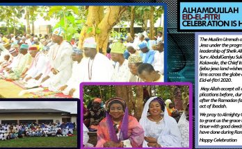 ALHAMDULILAH EID-EL-FITRI CELEBRATION IS HERE AGAIN