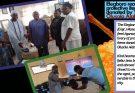 Elegboro receiving protective items donated by Yeye Olusola Alabi